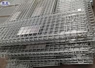 Metal Storage Wire Mesh Pallet Cages Basket Foldable Lockable COC Certificated
