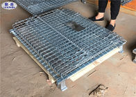Rigid Mesh Metal Pallet Cage Collapsible Hot Dipped Galvanized Steel Wire