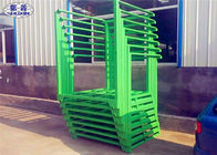 Green Steel Stacking Racks , Warehouse Plate Stacking Storage Racks For Tobacco
