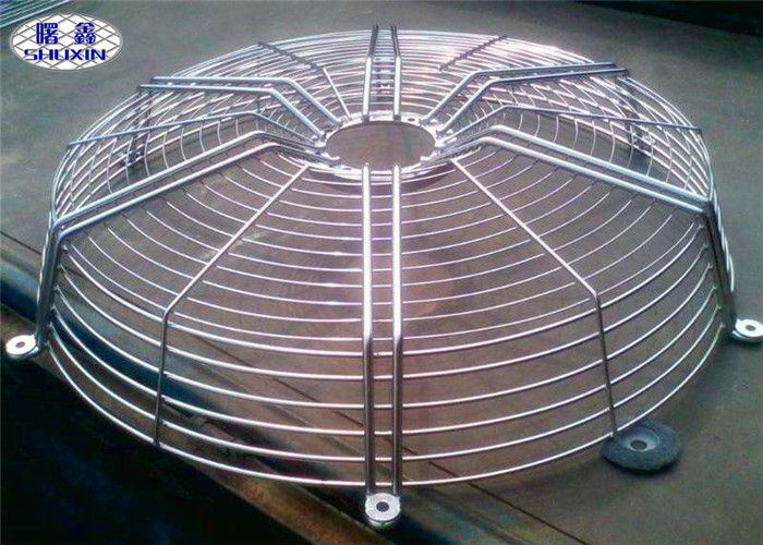 Safety Steel Fan Grill Cover Circle Guard ISO Approved For Spray Paint Machine