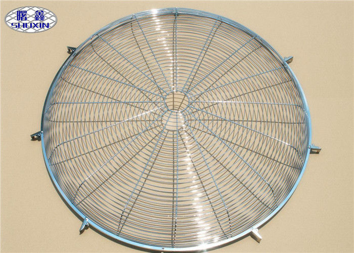Metal Wire Fan Grill Cover Round Corrosion Resistant Finger Protector